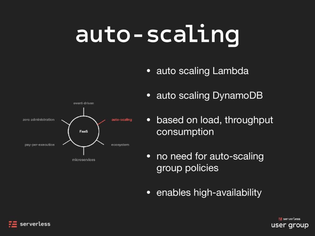 auto-scaling • auto scaling Lambda  • auto scal...