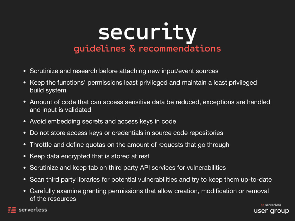 security • Scrutinize and research before attac...
