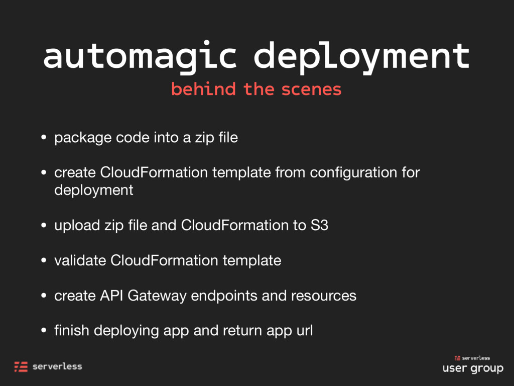 automagic deployment behind the scenes • packag...