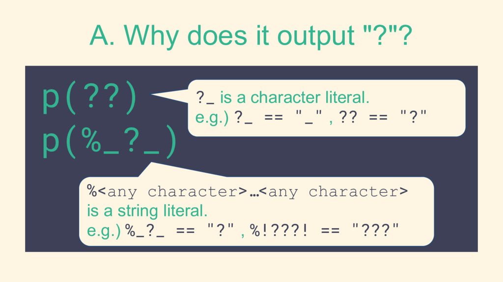 """A. Why does it output """"?""""? p(??) p(%_?_) %<any ..."""