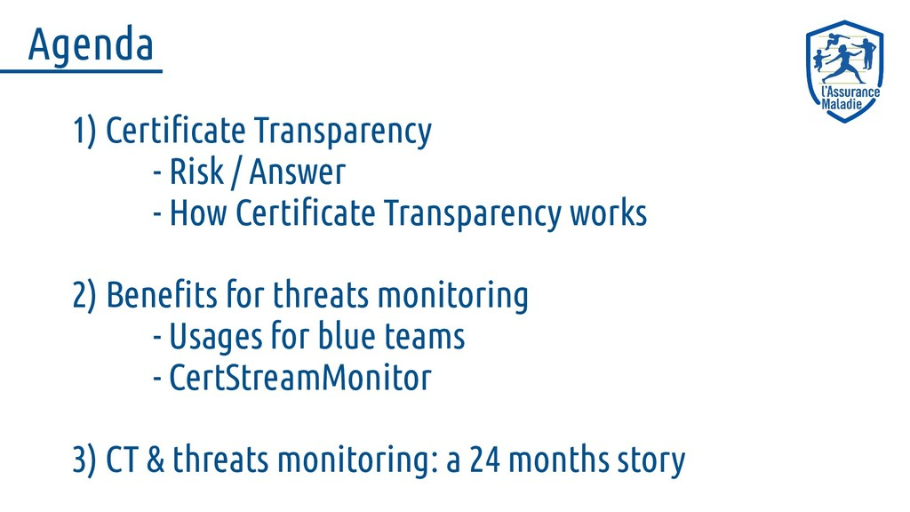 1) Certificate Transparency - Risk / Answer - H...