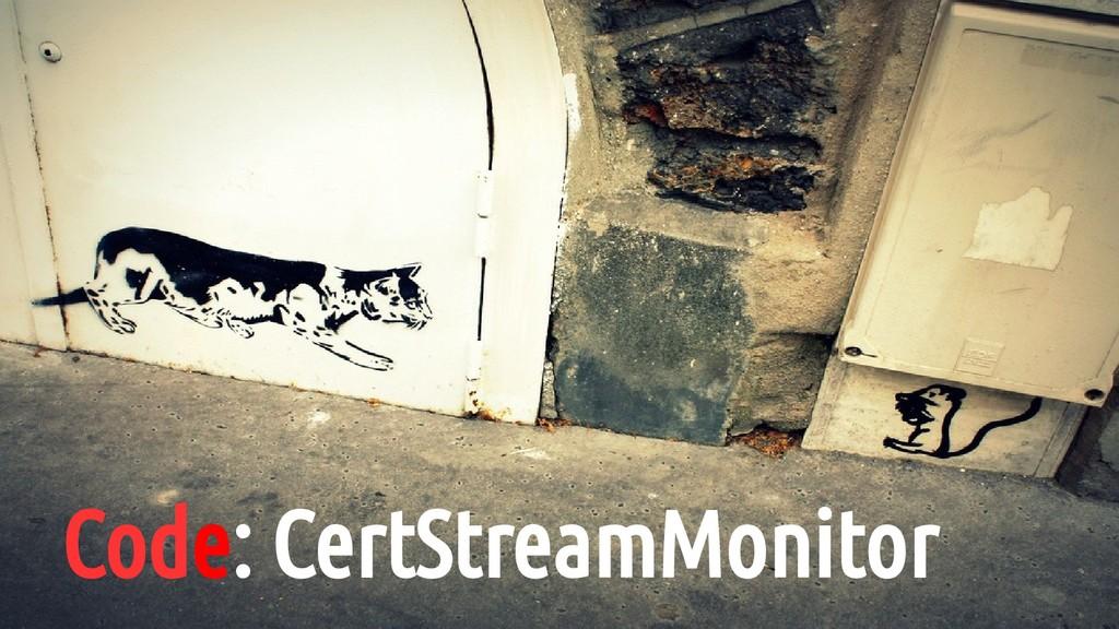 Code: CertStreamMonitor