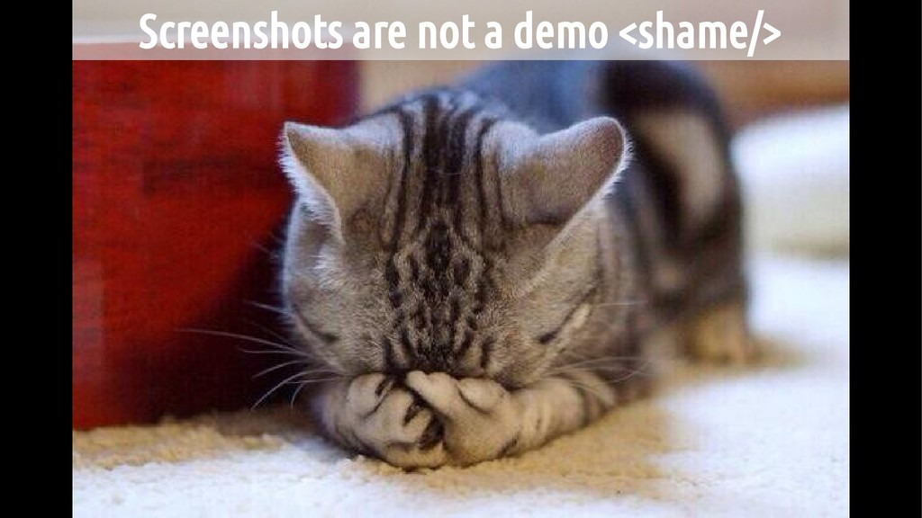 Screenshots are not a demo <shame/>