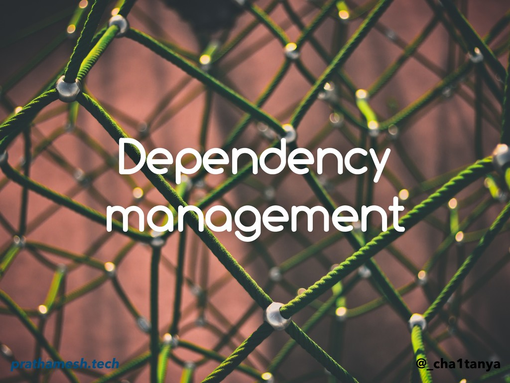 Dependency management @_cha1tanya prathamesh.te...