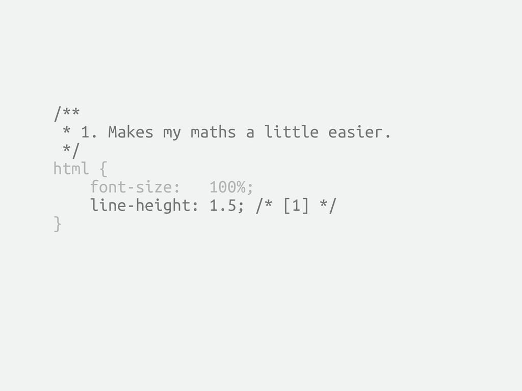 /** * 1. Makes my maths a little easier. */ htm...