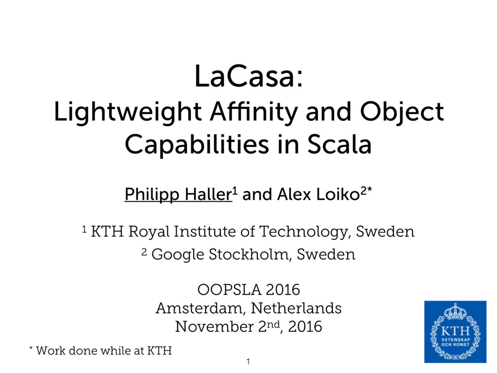 LaCasa: Lightweight Affinity and Object Capabilit...