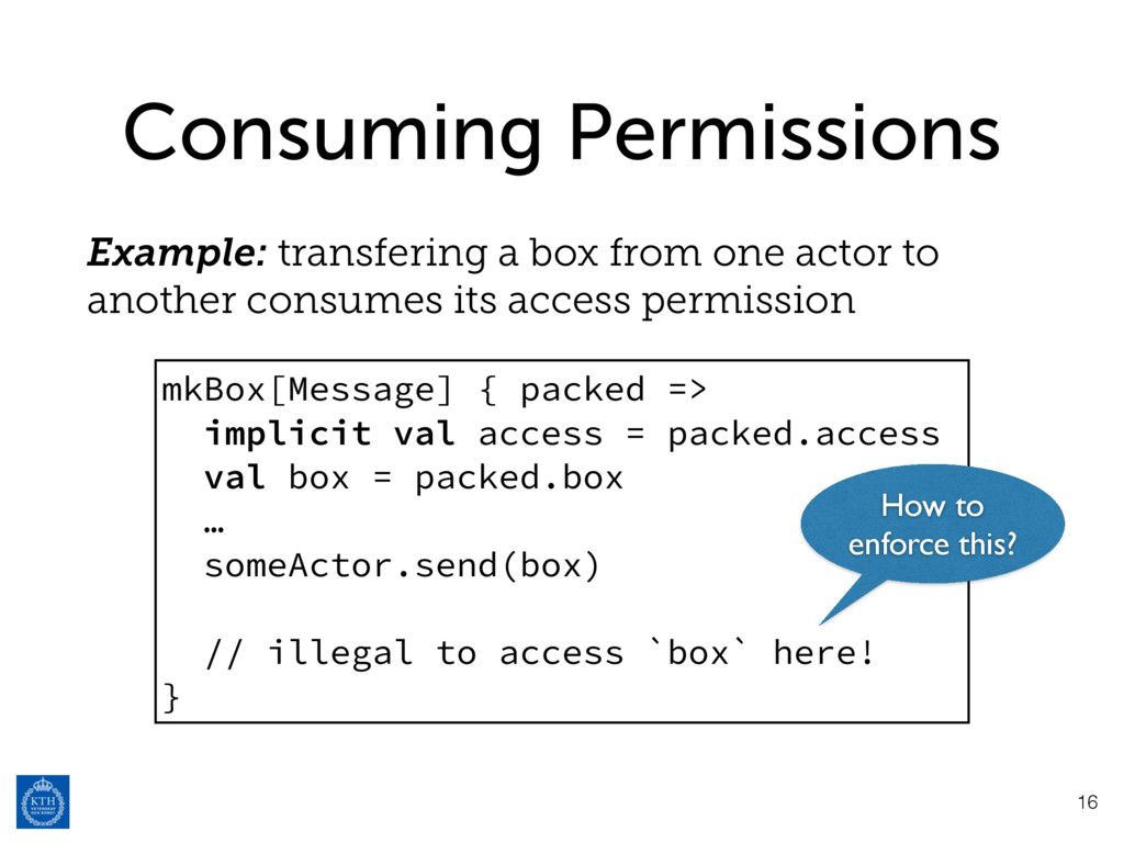 Consuming Permissions Example: transfering a bo...