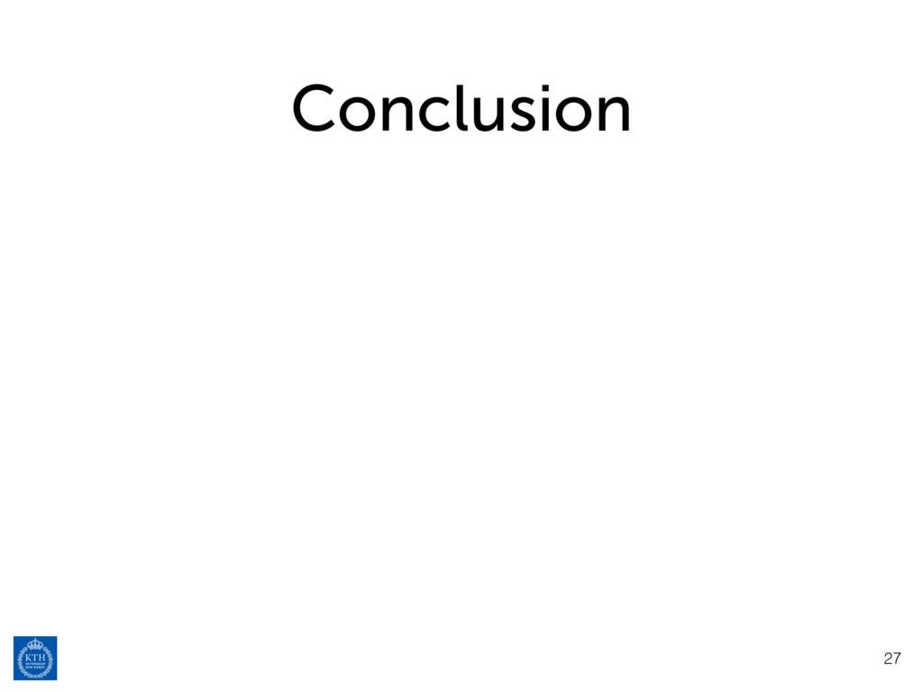 Conclusion 27