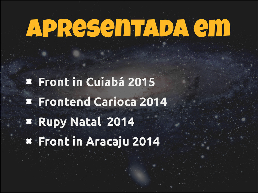 Front in Cuiabá 2015 Frontend Carioca 2014 Rupy...