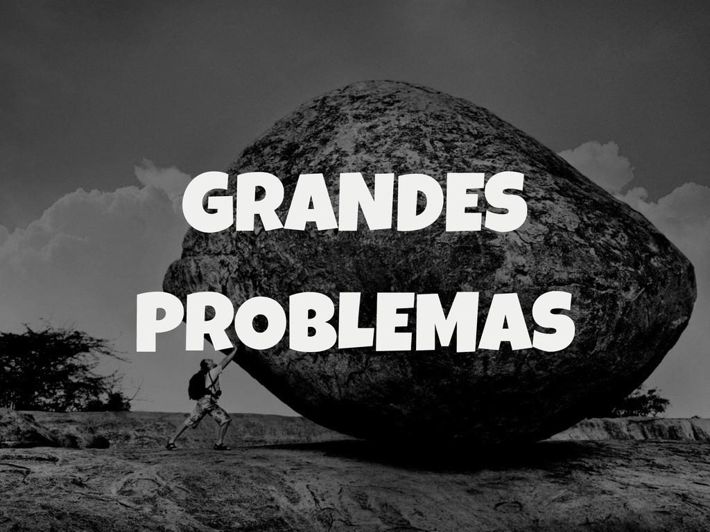 GRANDES PROBLEMAS
