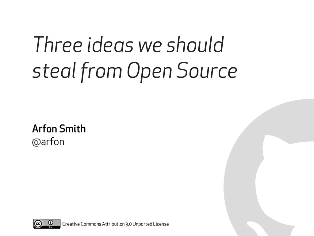 Three ideas we should steal from Open Source Cr...