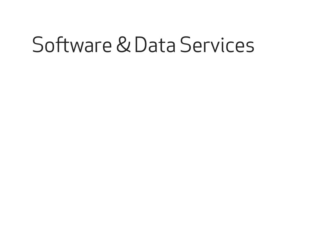 Software & Data Services