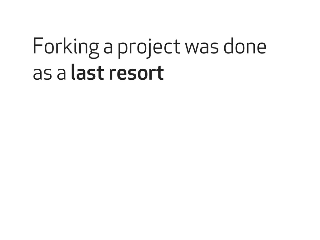 Open source collaborations Forking a project wa...