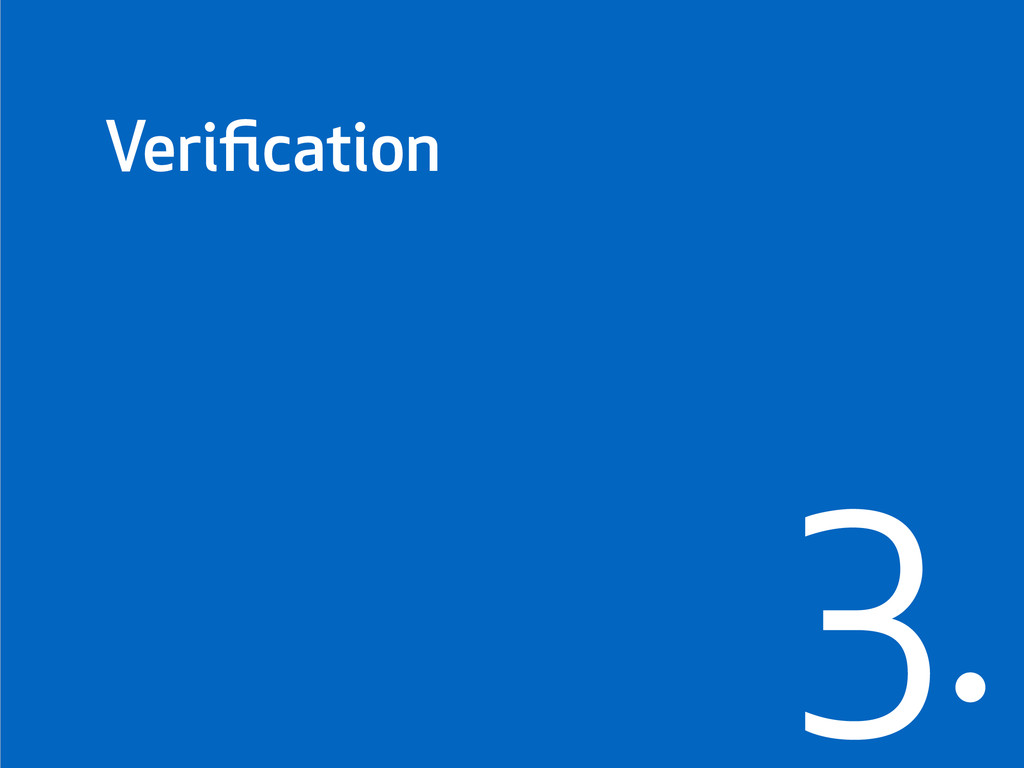 Verification 3.