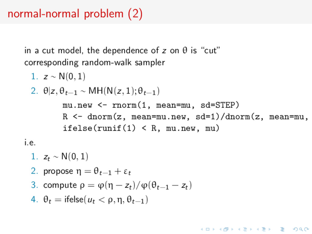 normal-normal problem (2) in a cut model, the d...