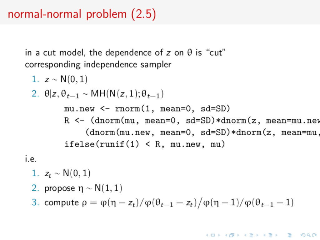 normal-normal problem (2.5) in a cut model, the...