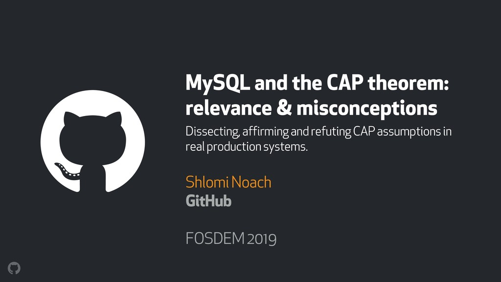 MySQL and the CAP theorem: relevance & misconce...