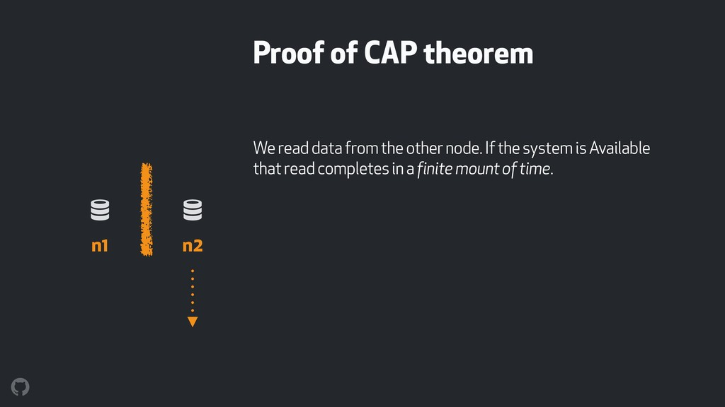 Proof of CAP theorem We read data from the othe...