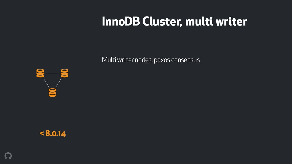 InnoDB Cluster, multi writer Multi writer nodes...