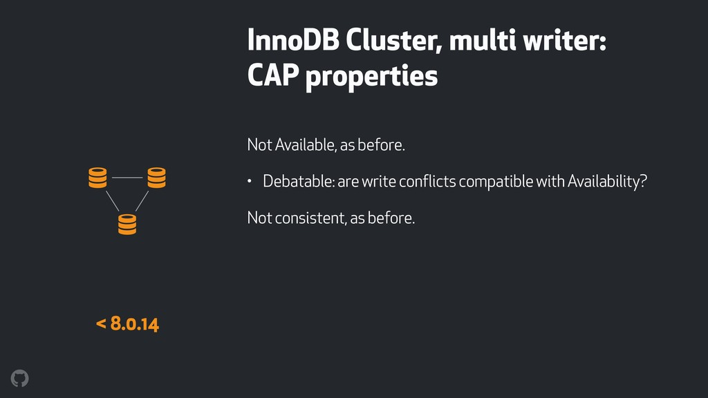 InnoDB Cluster, multi writer: CAP properties No...