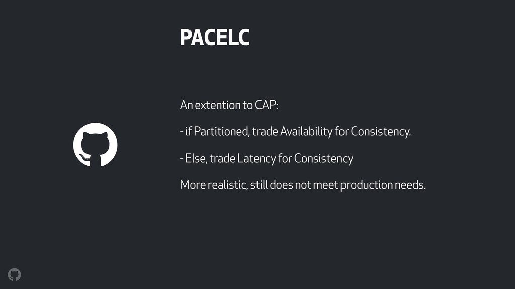 PACELC An extention to CAP: - if Partitioned, t...