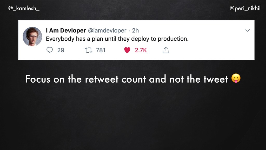 Focus on the retweet count and not the tweet  @...