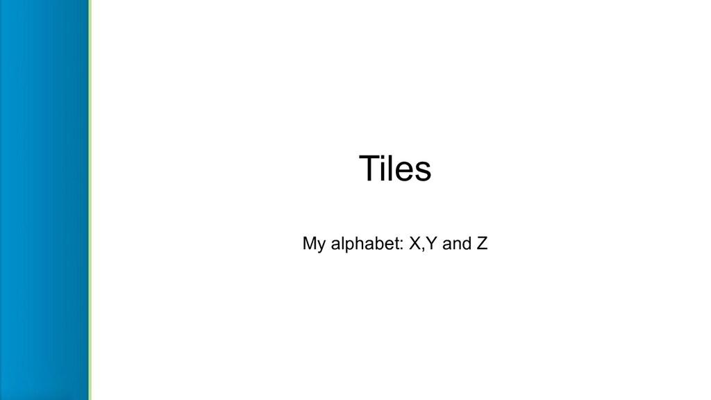 Tiles My alphabet: X,Y and Z