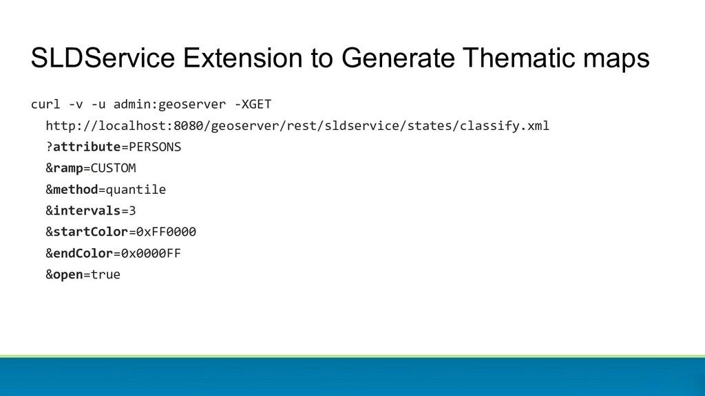 SLDService Extension to Generate Thematic maps ...