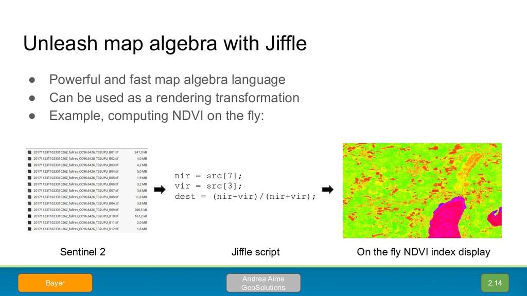 Unleash map algebra with Jiffle ● Powerful and ...