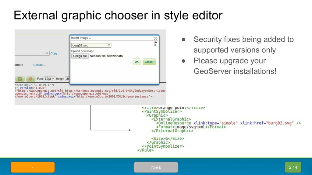 External graphic chooser in style editor Niels ...