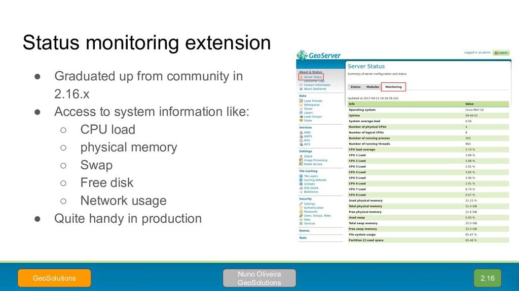 Status monitoring extension 2.16 Nuno Oliveira ...