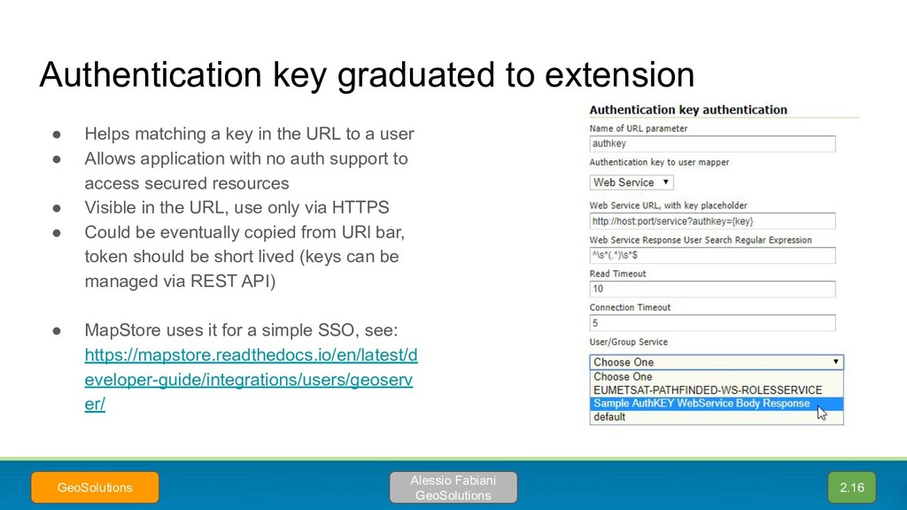 Authentication key graduated to extension ● Hel...
