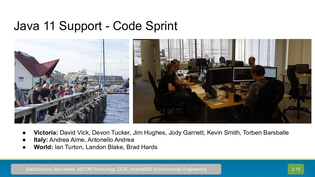 Java 11 Support - Code Sprint ● Victoria: David...