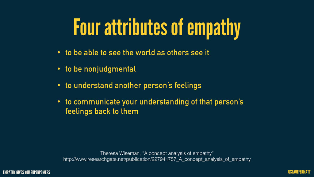 EMPATHY GIVES YOU SUPERPOWERS @STAUFFERMATT Fou...