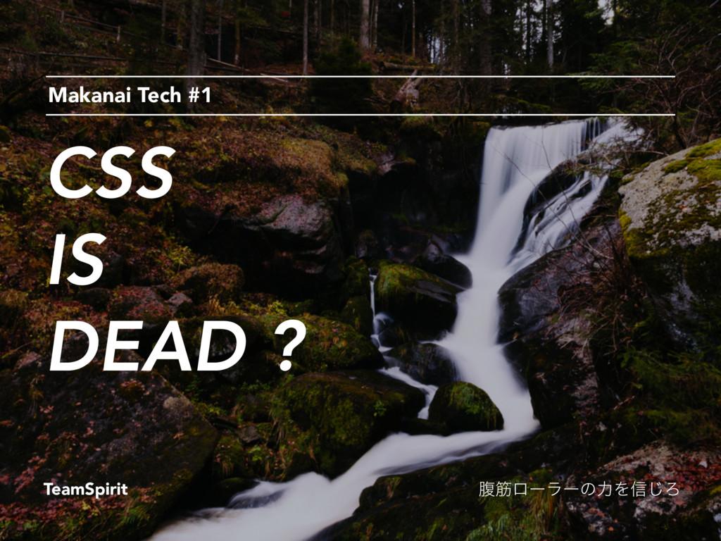 CSS IS DEAD ? Makanai Tech #1 TeamSpirit ෲےϩʔϥʔ...