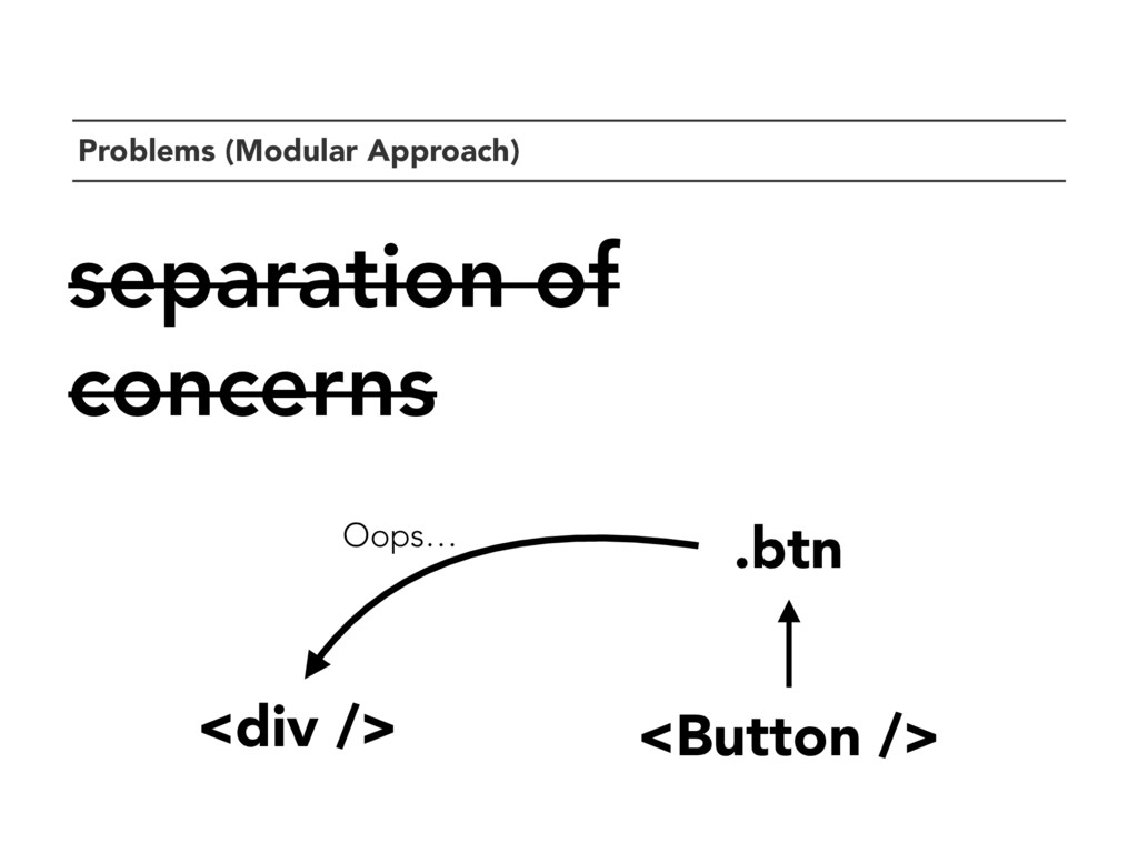 `Problems (Modular Approach) separation of conc...