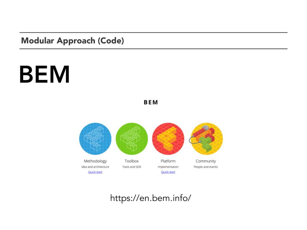 `Modular Approach (Code) BEM https://en.bem.inf...
