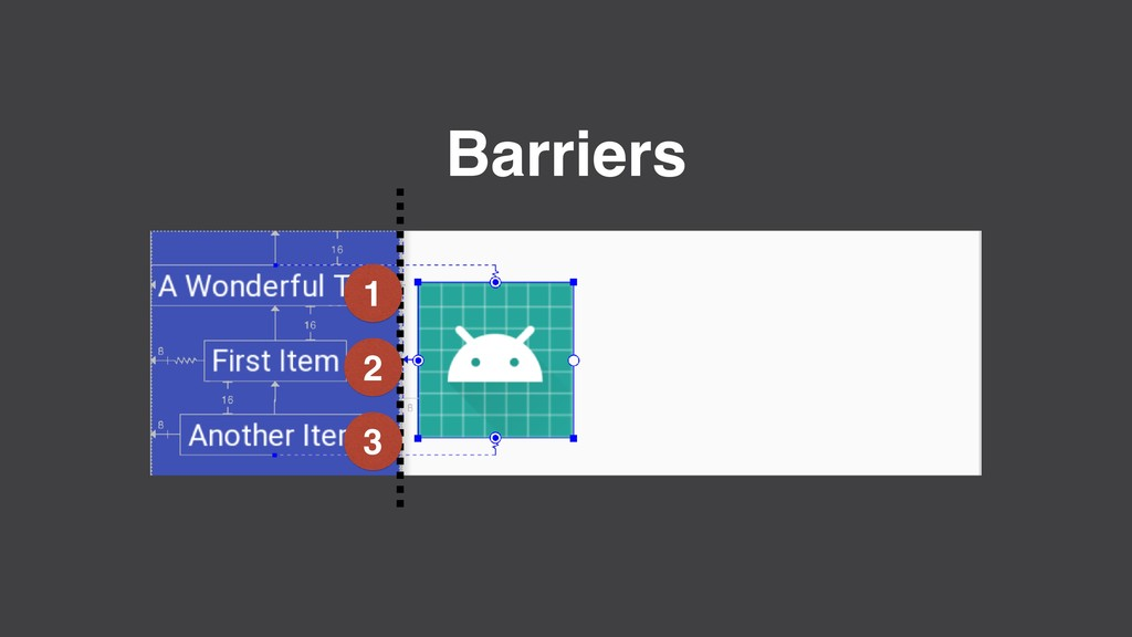 Barriers 1 2 3