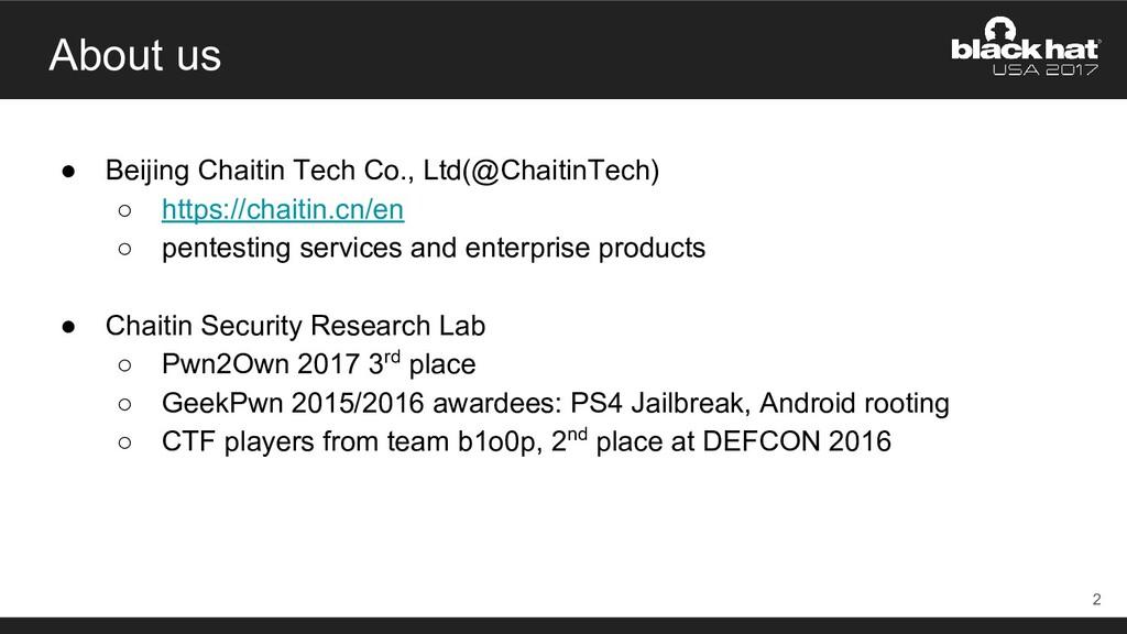 About us ● Beijing Chaitin Tech Co., Ltd(@Chait...