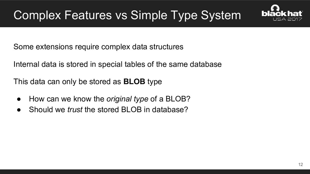 Complex Features vs Simple Type System Some ext...