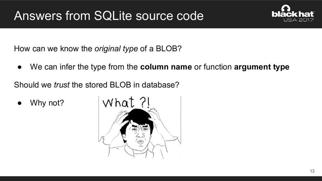 Answers from SQLite source code How can we know...