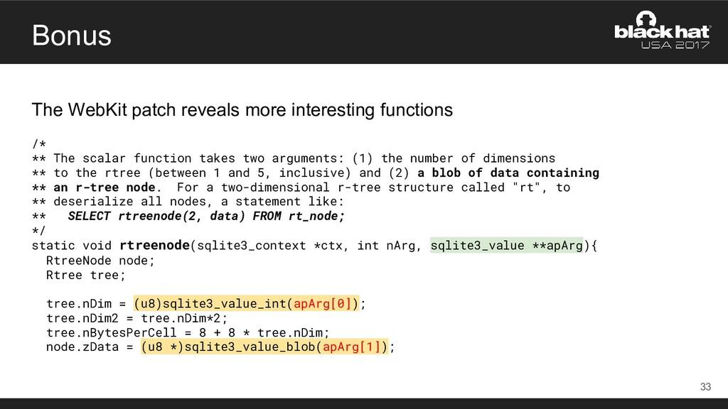 Bonus The WebKit patch reveals more interesting...
