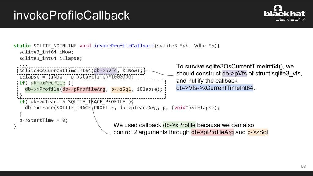 invokeProfileCallback static SQLITE_NOINLINE vo...