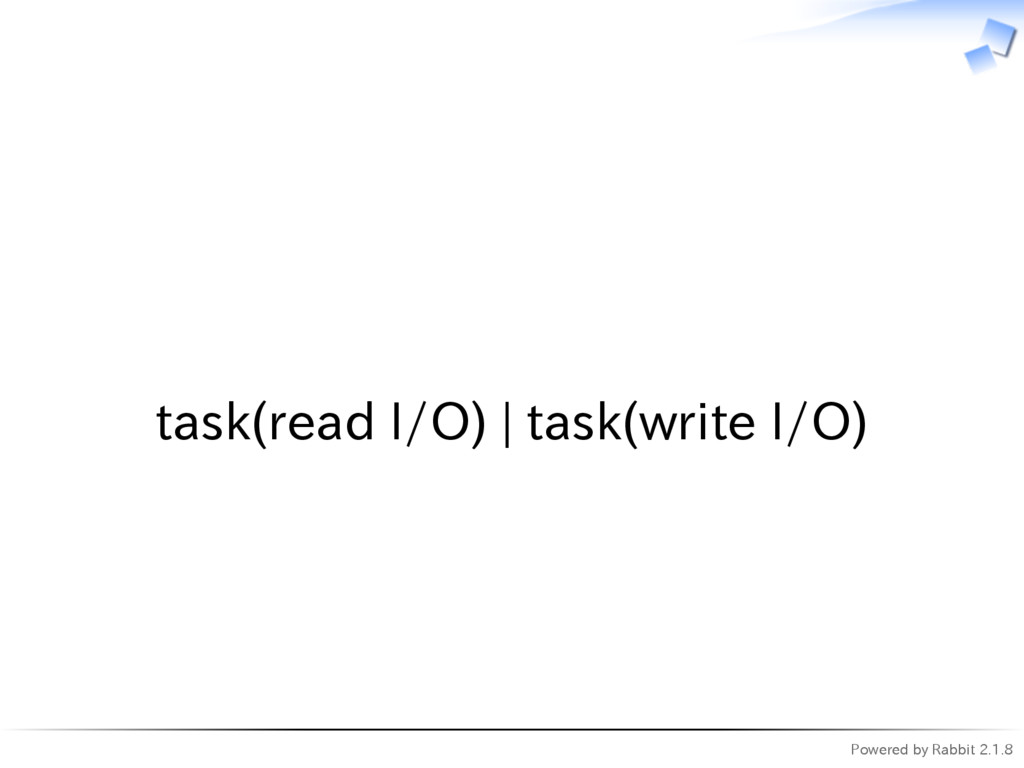 Powered by Rabbit 2.1.8   task(read I/O) | task...