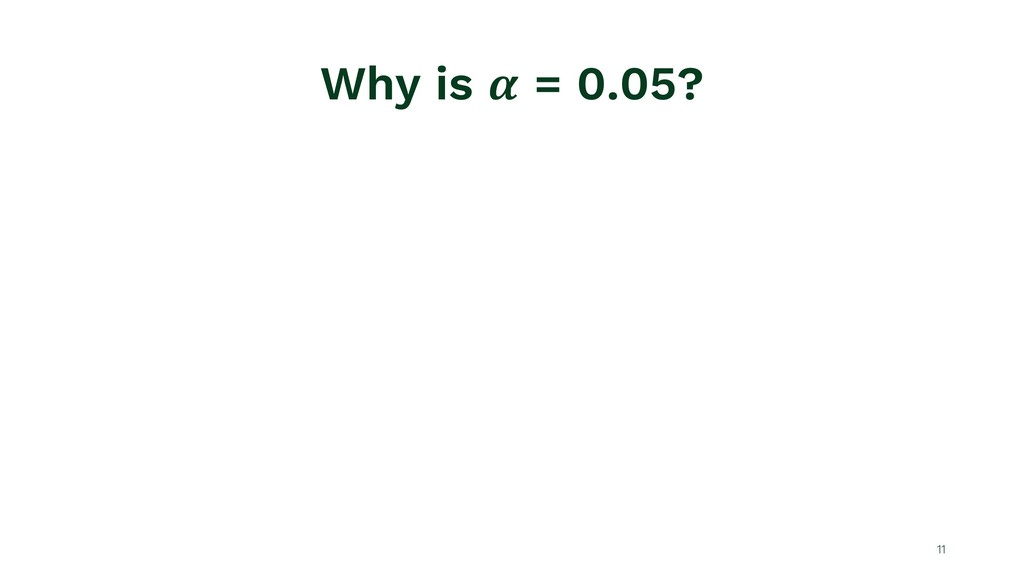 Why is ! = 0.05? 11
