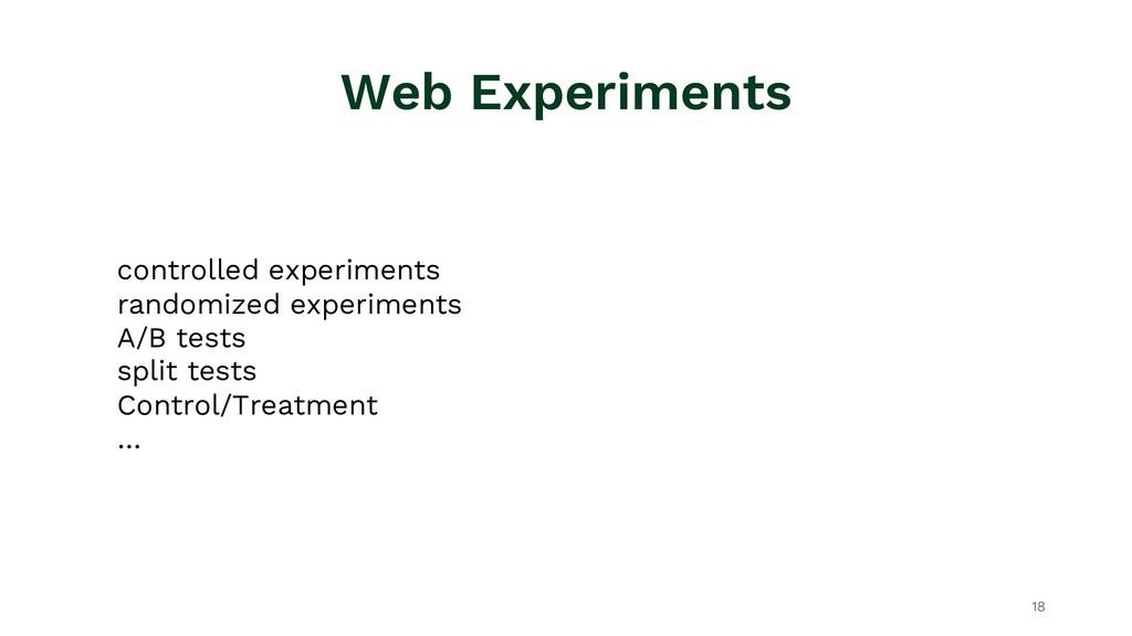 Web Experiments 18 controlled experiments rando...