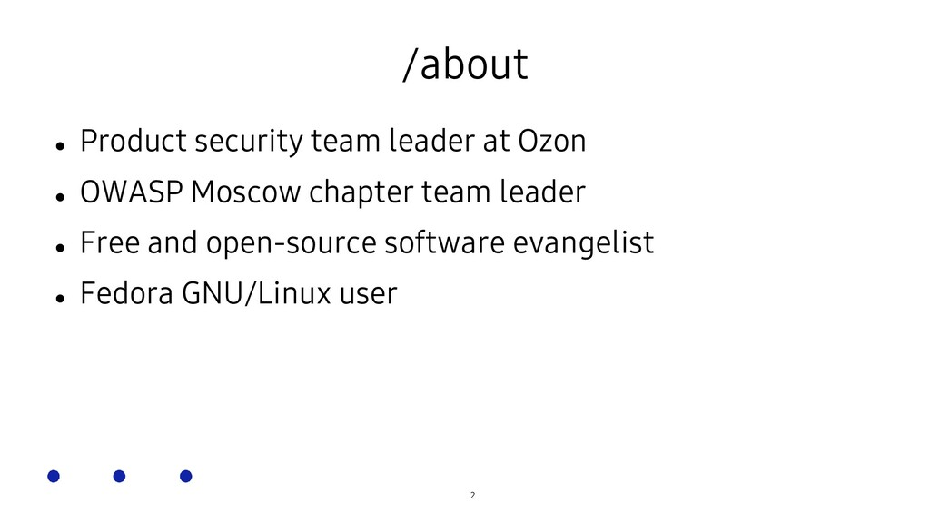 SOSCON Russia 2021 /about  Product security te...