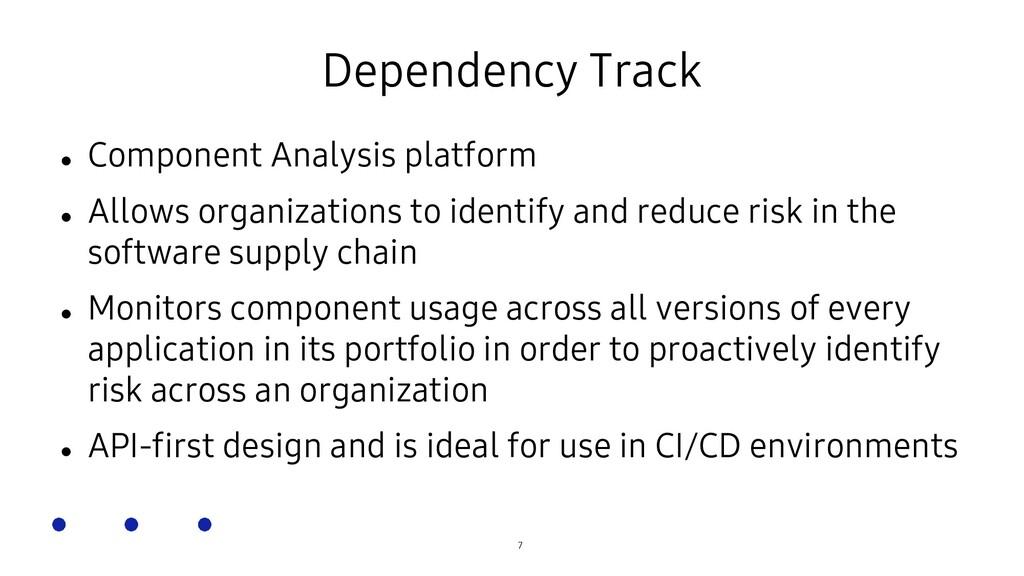 SOSCON Russia 2021 Dependency Track  Component...