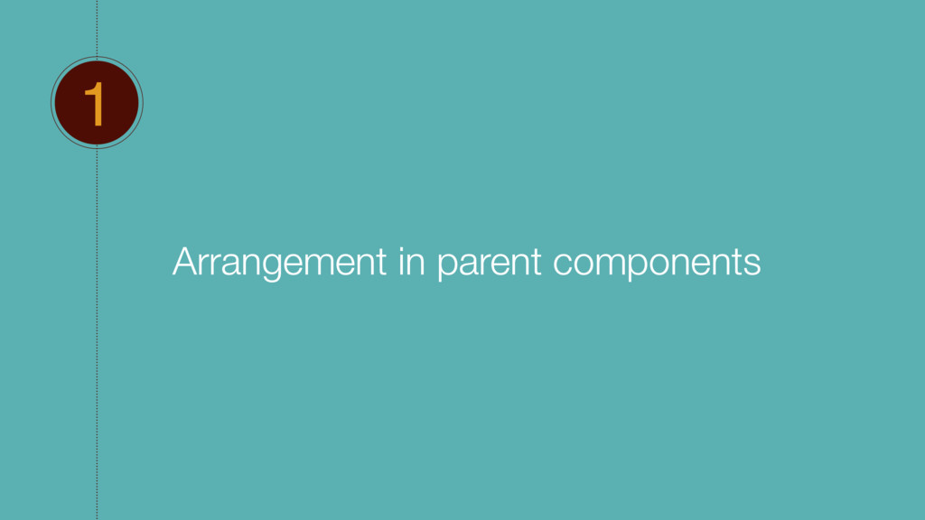 1 Arrangement in parent components