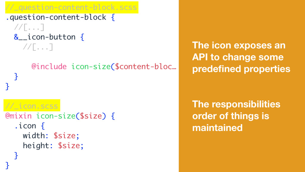 The icon exposes an API to change some predefine...
